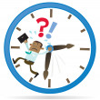 Stock Vector: Business Buddy is Running out of Time.