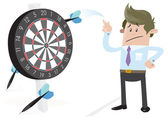 Business Buddy misses the Target. — Stock Vector