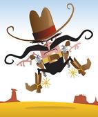 Crazy Gunslinger — Stock Vector