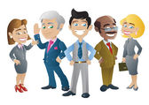 Group of Business People — Stock Vector