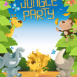 Jungle Party Border — Stock Vector