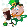 Happy St. Patrick's Day Leprechaun — Stock Vector