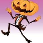 Scary Pumpkin Character — Stock Vector