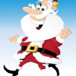 Santa Claus on the move — Stock Vector