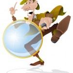 Постер, плакат: Sherlock Holmes Investigator with magnifying glass