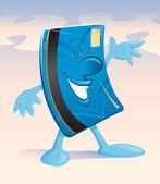 幸せな小さなクレジット カード — ストックベクタ