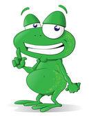 This happy tree frog — Stock Vector