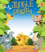 Jungle Party Border — Stock Vector