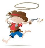 Little cowboy — Stock Vector