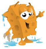 Car Wash Sponge Cartoon — Stock Vector