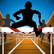 Stock Vector: Hurdle race