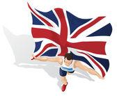 British Race Winner — Stock Vector