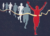 Retro běžci — Stock vektor