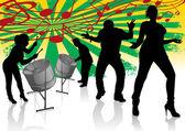 Steel Drum Calypso Street Party — Stock Vector