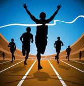 Race Winner — Stock Vector