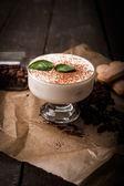 Creamy rice pudding with cinnamon — Stock Photo