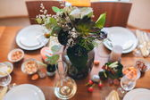 Dining table setting — Stock Photo
