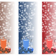 Stock Photo: Christmas vertical banners set