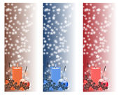 Christmas vertical banners set — Stock Photo