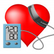 Heart - Blood pressure monitor — Stock Vector #34655241