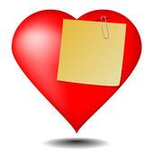 Notatka miłość na białym tle — Wektor stockowy