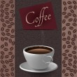 Coffee cups and coffee bean background — Stock Photo
