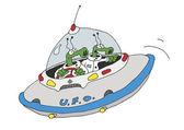 Flying saucer — Stock Vector