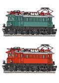 Locomotora eléctrica — Vector de stock