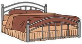 Big bed — Stok Vektör