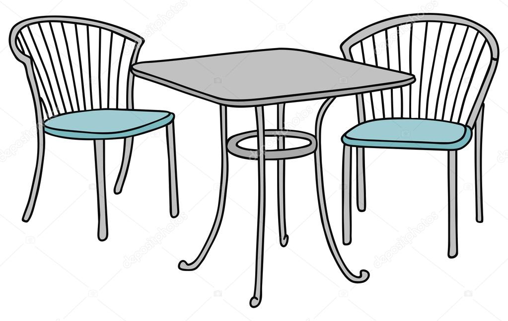 Tavolo e sedie vettoriali stock 2v 35477643 for Mesas de dibujo baratas