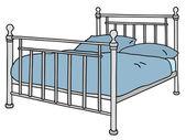 金属床 — 图库矢量图片