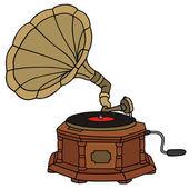 Gramofon — Stok Vektör