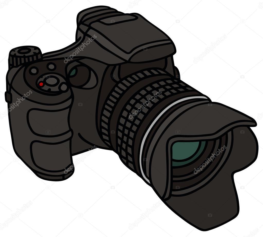 手绘图的相机摄影– 图库插图