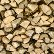 Stock Photo: Sawn wood piled perfectly as backround