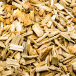 Stock Photo: Sawn wood cut piled perfectly as backround