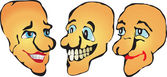 Set of smiles vector — Stock Vector