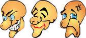 Set di vettore di sorrisi — Vettoriale Stock