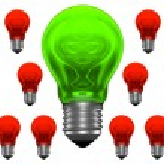 Good idea among lots of bad ideas — 图库照片