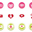 Love Icon Set — Stock Vector