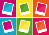 Photo Frames over different color backgrounds. — Stock Vector