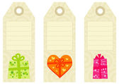 Vintage gift tags — Stockvector