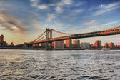 Manhattan Bridge Sunset — Stock Photo