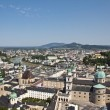 View On The Old City Of Salzburg From Fortress — Stock Photo