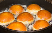 Baking Donuts In A Pan — Stock Photo