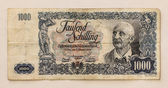Old Austrian Banknote: 1000 Schilling 1954 — Stock Photo