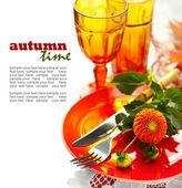 Autumn Place Setting — Stock Photo