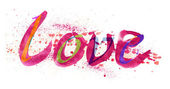 Freehand word -Love- — Stock Photo