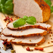 Sliced Roast Pork Loin — Stock Photo