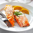 Salmon with Dressing — Stock Photo