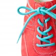 Sneaker with lace — Stock Photo